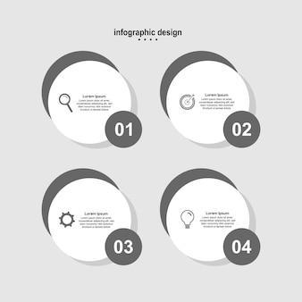 Cerchio di affari di design moderno di progettazione infografica