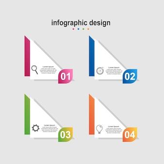 Infografica design moderno business di design