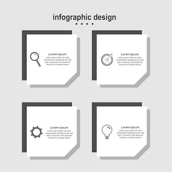 Affari di design moderno di carta di progettazione infografica