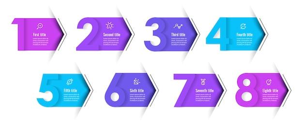 Modello struttura infografica con icone