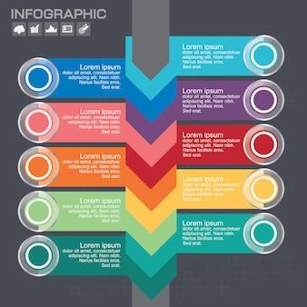 Modello di progettazione infografica con posto per i tuoi dati. illustrazione vettoriale.