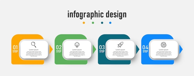 Vettore di progettazione infografica