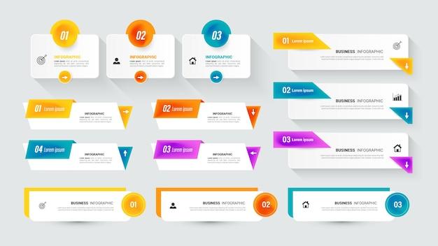 Raccolta di elementi infografici per la presentazione