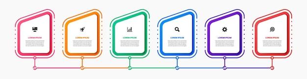 Modelli di progettazione elemento infografica con icone
