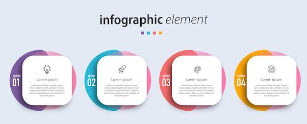 Modello di elemento infografica. premium