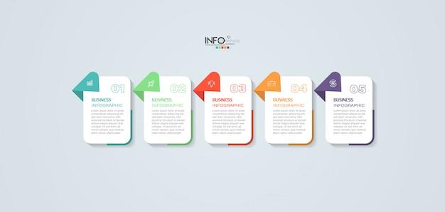 Elemento di infografica con passaggi. può essere utilizzato per processo, presentazione, diagramma, layout del flusso di lavoro, grafico informativo, web design.