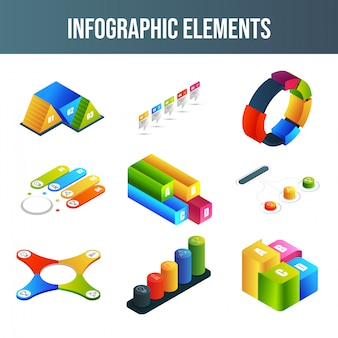 Set di elementi di infografica.