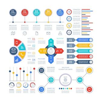 Set di elementi di infografica