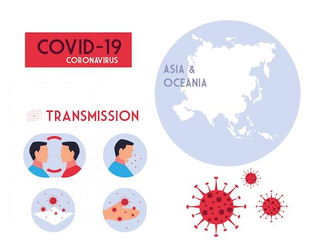 Infografica su come viene trasmesso il coronavirus