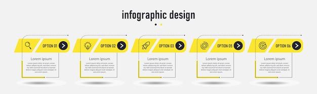 Concetto di affari del modello di etichetta infografica