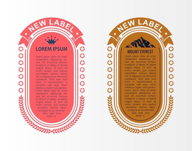 Set di modelli di layout infografica card