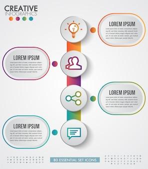 Modello di vettore di progettazione moderna infografica per affari con 4 passaggi o opzioni