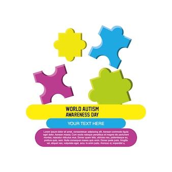 Presentazione infografica con pezzi di puzzle