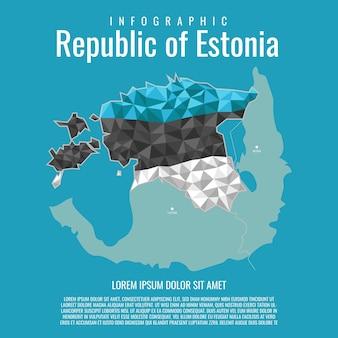 Repubblica di estonia infografica