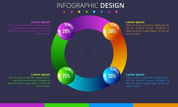 Modello di infografica con posto per i tuoi dati