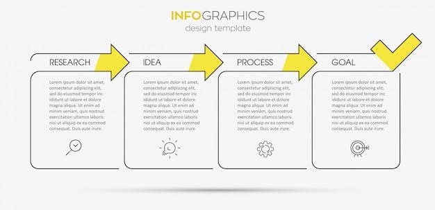 Modello di infografica con passaggi