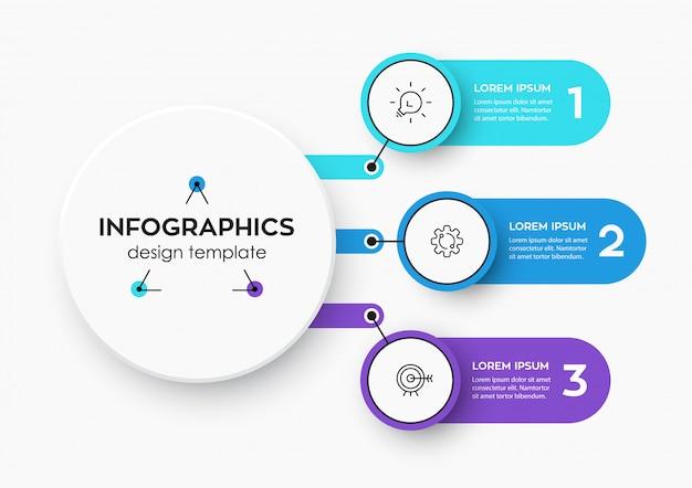 Modello di infografica Vettore Premium