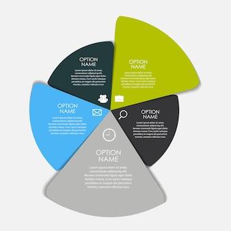 Modelli di infografica per illustrazione vettoriale di affari. eps10