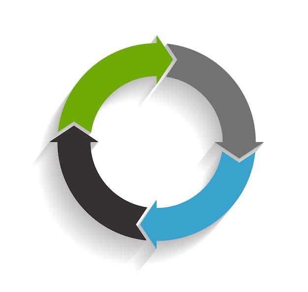 Modelli di infografica per illustrazione vettoriale di affari.