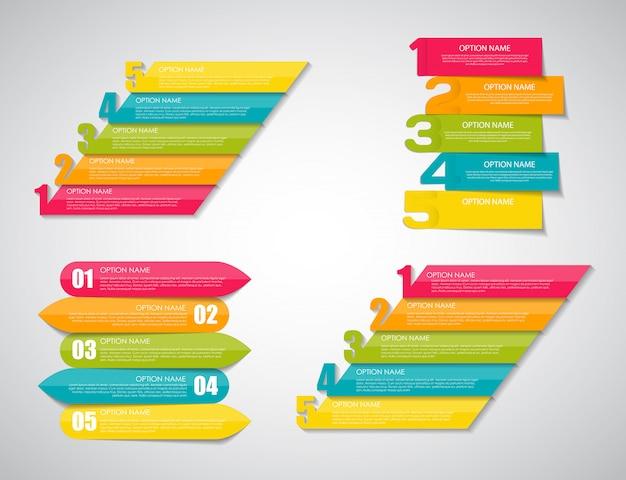 Modelli di infographic messi per l'illustrazione di affari