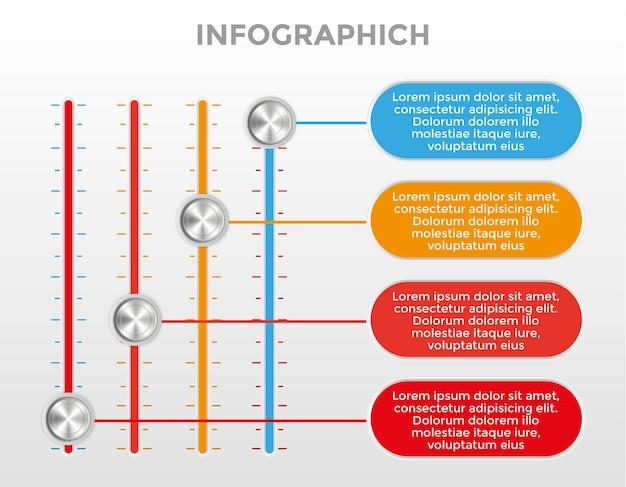 Modelli di infografica per vari scopi di presentazione