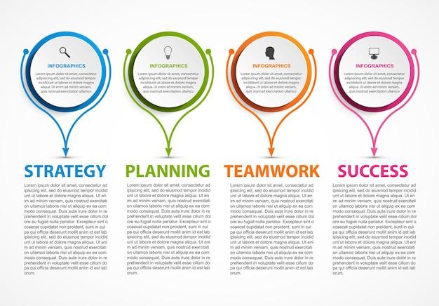 Infografica per presentazioni aziendali o banner informativo.