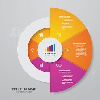 Elemento grafico infografica Vettore Premium