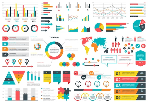 Illustrazione di grafici di infographics