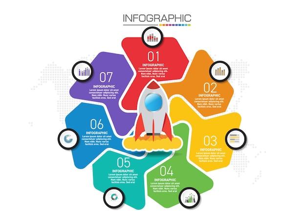 Progettazione infografica 4 passaggi con icone di marketing possono essere utilizzati per layout del flusso di lavoro, diagramma, relazione annuale, web design.
