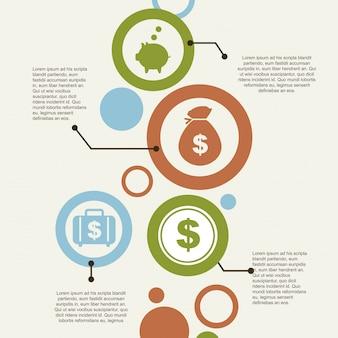 Infografica ed icone di economia