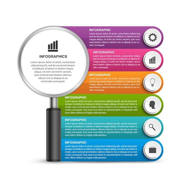 Banner di infografica o informazioni
