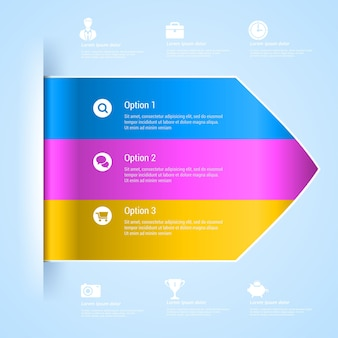 Banner di opzioni di infografica.