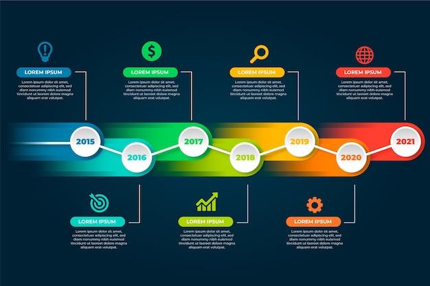 Tema del modello di pacchetto infografica