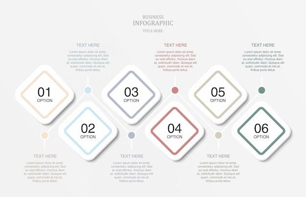 Infografica per modello di presentazione diapositiva.
