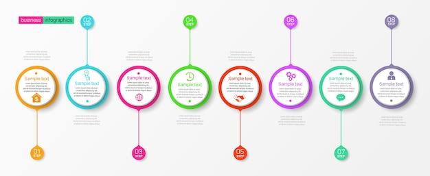 Modello di infografica con opzioni, passaggi o processi