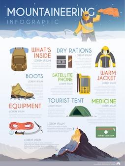 Infografiche sul tema dell'arrampicata