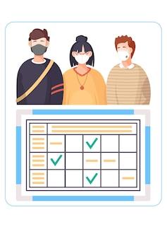 Poster informativo sulla diffusione del virus.