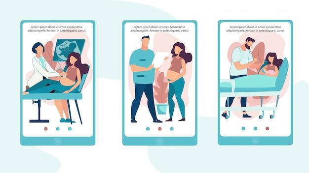 Set di poster informativo determinazione del sesso infantile.
