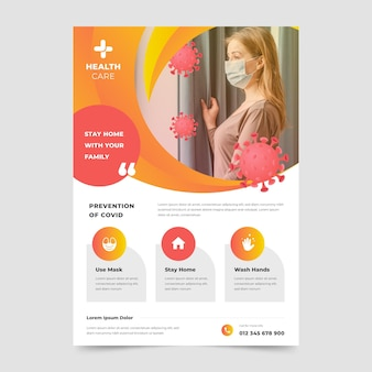 Modello di volantino informativo sul coronavirus