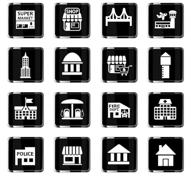 Icone web dell'infrastruttura per la progettazione dell'interfaccia utente
