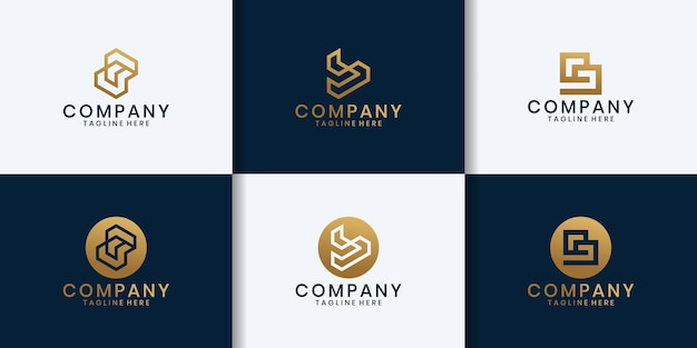 Ispirazione per il design del logo della tecnologia iniziale b.