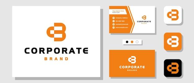 Lettera iniziale monogramma cb moderno semplice ispirazione per il design del logo con modello di layout biglietto da visita