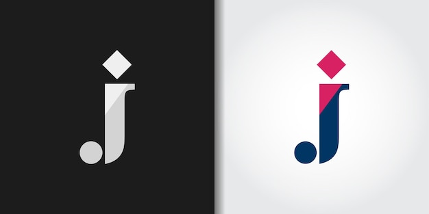 Lettera iniziale j logo set