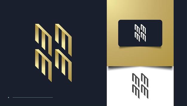 Modello di progettazione del logo della lettera iniziale m. design del logo mmmm adatto per multimedia, tecnologia, industrie creative, intrattenimento e altre attività