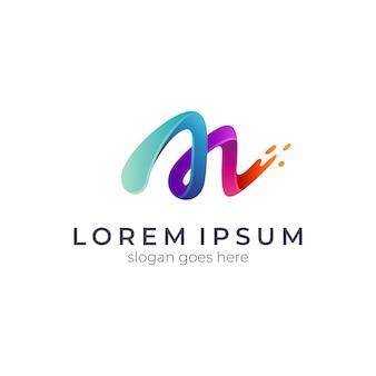 Lettera iniziale logo m