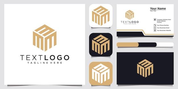 Lettera iniziale m logo moderno modello di progettazione idea di concetto di logo e biglietto da visita