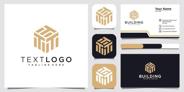 Lettera iniziale t modello di progettazione del logo idea del concetto di logo e biglietto da visita