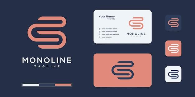 Ispirazione del logo iniziale. modello di progettazione logo lettering s o sc.