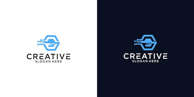 Iniziali g tech logo design grafico per altri usi è perfetto