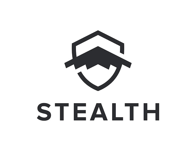Iniziali lettera s con furtività e scudo semplice elegante design geometrico moderno creativo logo